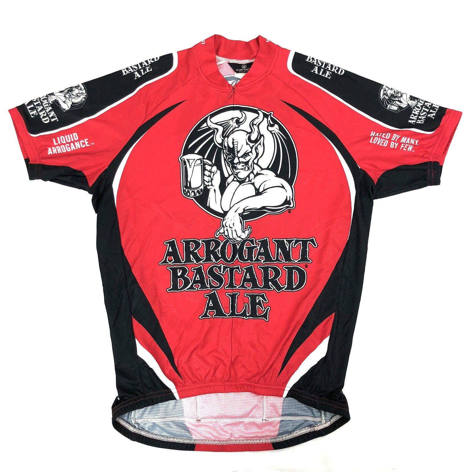 Canari Arrogant Bastard Ale Design  Mens 2 3 Zip Cycling Jersey Shirt M Medium  a lot of surprises
