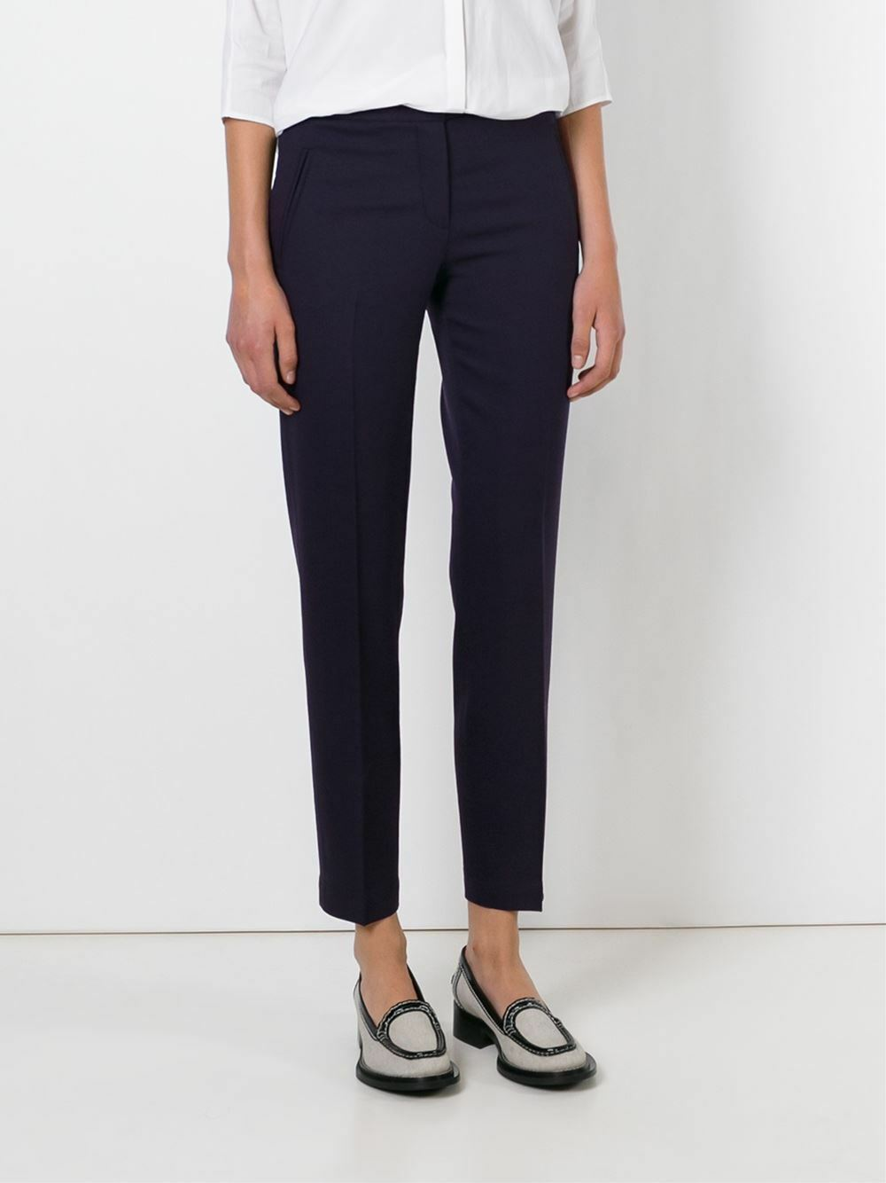 NWT Tory Burch Cropped Tailored Trousers Navy bluee  – Size 6