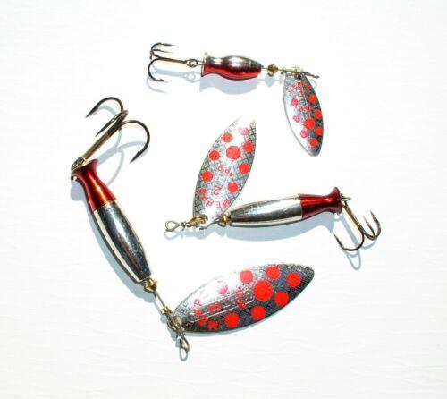 8 + 16 + 24 Gramm Mepps Spinner Aglia Longheavy Silber//Red Dots Größe 1 3 2