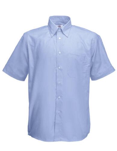 Fruit of the Loom caballero camisa manga corta Oxford S M L XL XXL 3xl sobre tamaño