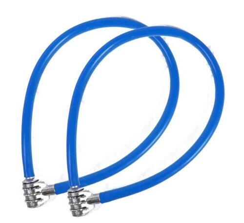 Antivol vélo VTT BMX Fixie câble 60cm bleu code lock verrouillage combinaison x2