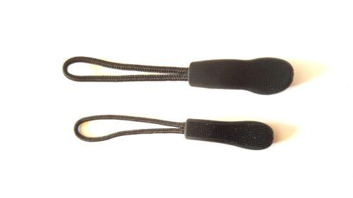 10 Stück Reißverschlußanhänger für Jacke Tasche schwarz rutschfest Rucksack