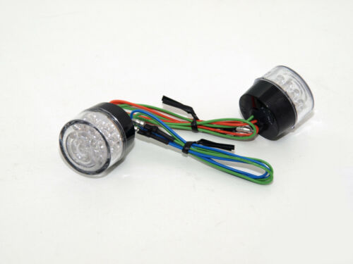 Verkleidung LED Blinker Bullet rund hinten E-geprüft ohne Gehäuse Paar 203-730