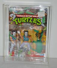 Unpunched TMNT Casey Jones 19 Back Signed Eric Talbot/Michael Dooney 1989 MOC