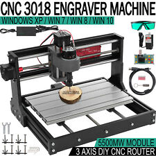 Cnc 3018 Pro Router Kit 3 Axis Grbl Control Pcb Milling Machine With 5500mw Laser