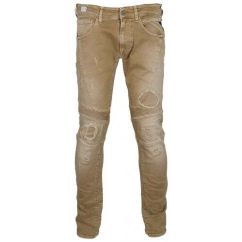 Replay Zaldok Stretch Brown Slim Fit Jeans