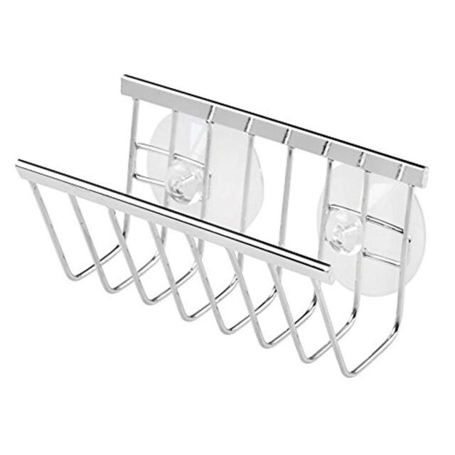 Polished Stainless Steel Gia Suction Soap//Sponge Holder