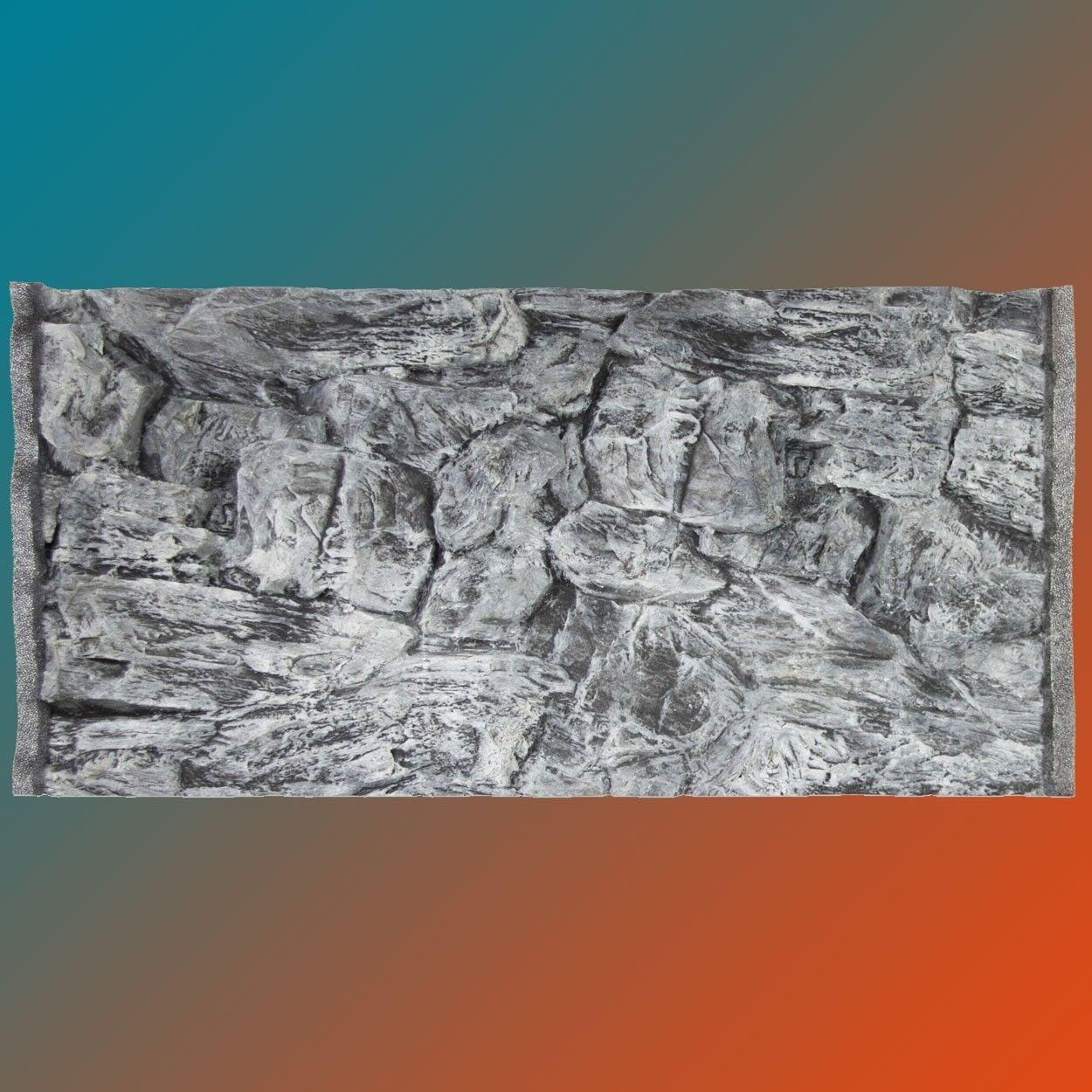 3d Aquarium Rückwand 100x40 cm S-Line grau Terrarium FIF