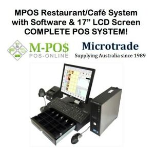 "POS - Cash Register System 17"" LCD Screen & Restaurant/Café software - complete."