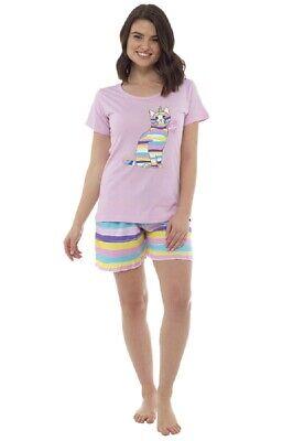 Ladies Caticorn Summer Shorts Pyjama Set ~ Cat x Unicorn