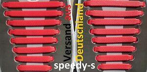 Silikon Schnürsenkel elastische Schuhband Schuhbänder Schuhgummis rot