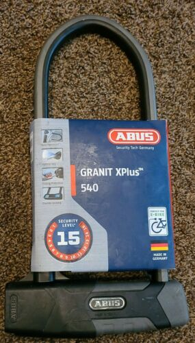 ABUS Granit X-Plus 540 U Lock 540//160HB300 USH Bike Lock Keyed High Security
