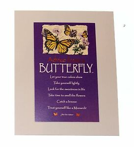 """Advice from a Butterfly Inspirational 8"""" x 10"""" Matted Picture ready to hang"""