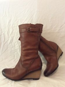 Taille Bottes 6 5 Cuir Caprice Marron Mollet Mi qaqxwP6zX8