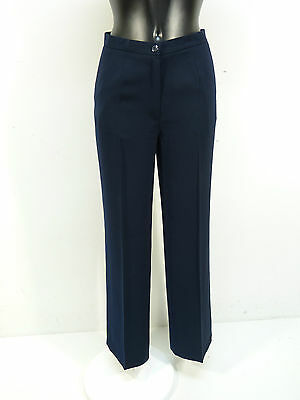 100% Vero Pantaloni Tuzzi Nelle Mis. 36/blu & Elegante + Nuovo Con Etichetta (k5584)-