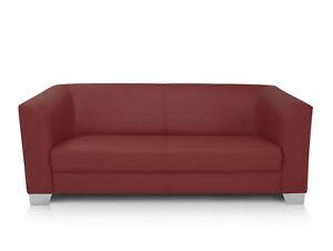 Chicago Sofa Couch 3 Sitzer Weinrot Kunstleder Kunstledercouch 3