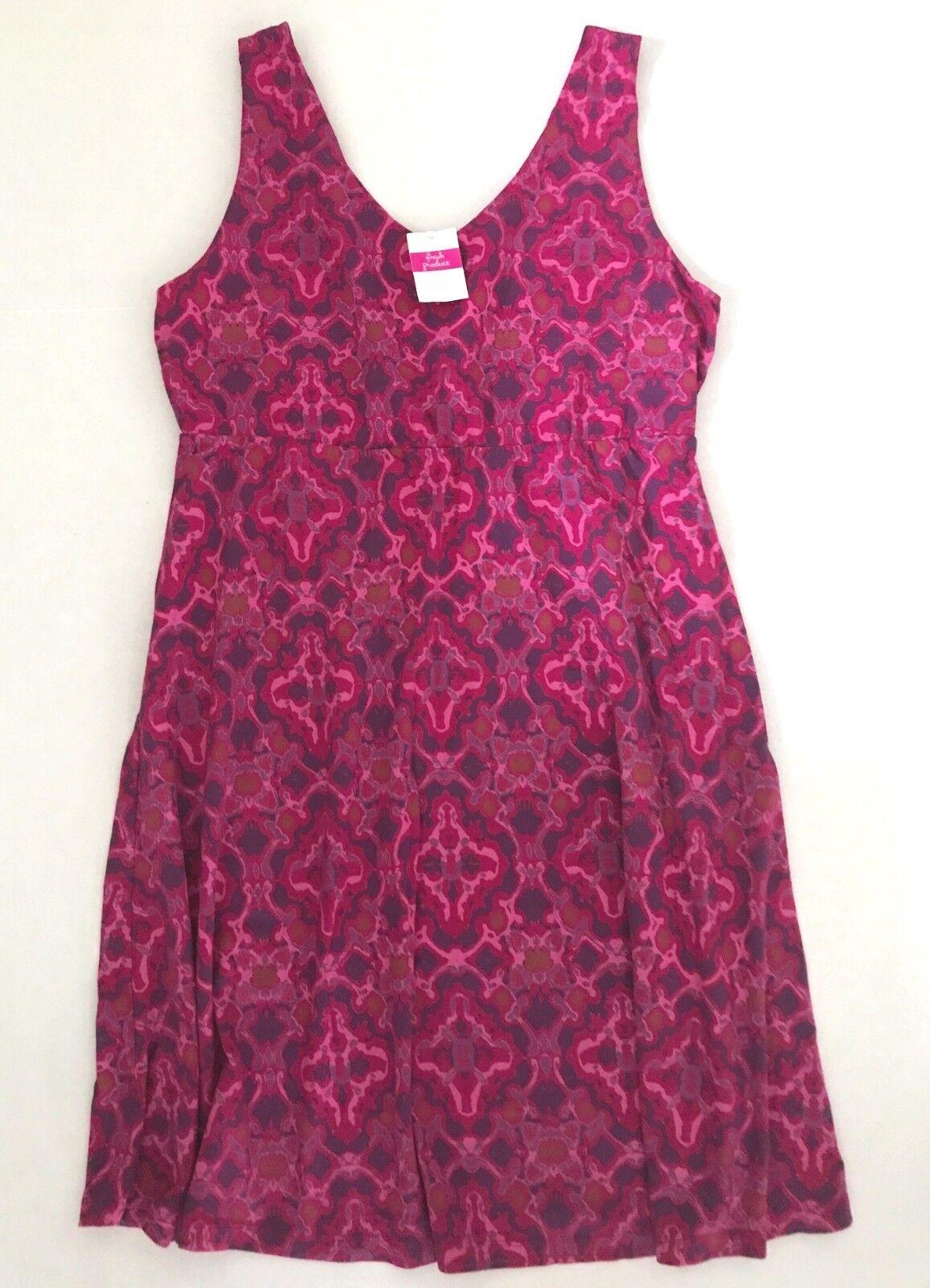 FRESH PRODUCE XXL Persian Red TILE PLAY OLIVIA Stretch Knit Dress NWT New XXL