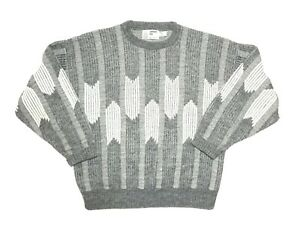 XL-Herren-VTG-London-Fog-80-039-s-COOGI-Style-Retro-Bill-Cosby-Biggie-ugly-sweater