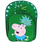 George Pig Dino Roar Backpack with Front Pocket School Bag Rucksack Peppa