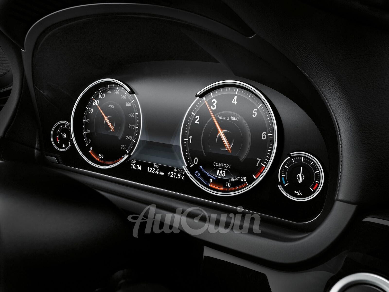 BMW OEM Digital Cluster Multifunctional Instrument Display Part F30 F32 LCI