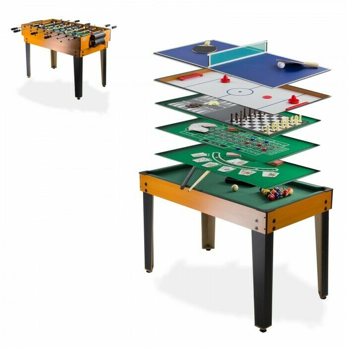 Table multi jeux 13 en 1 baby foot billard tennis table bowling etc D70112