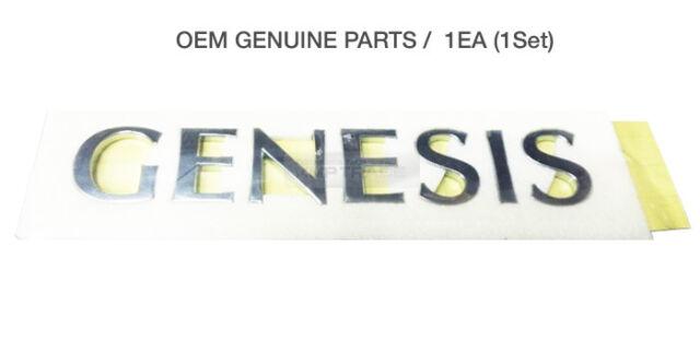 Hyundai Genesis Letters Symbol Emblem Silver Oem Original Bagde Ebay