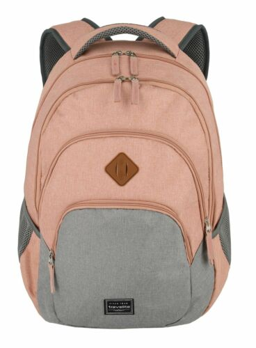 Travelite Basic Chiné US Sac à dos ordinateur portable Sac Sac Rose//Grey Rose