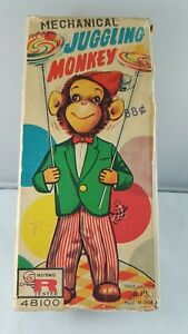 Antique Mechanical Juggling Monkey Toy, wind up rare collector Toy