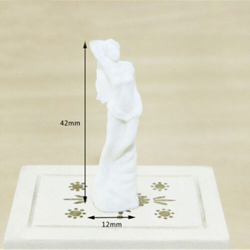 1:12 Mini Goddess Statue For Miniature Dollhouse Accessory Home Decor DIY Gif SJ