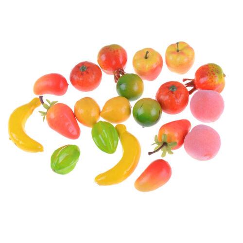10Pcs Kinds Of Fruit 1:12 Miniature Dollhouse Decor Handmade Food Supp`US