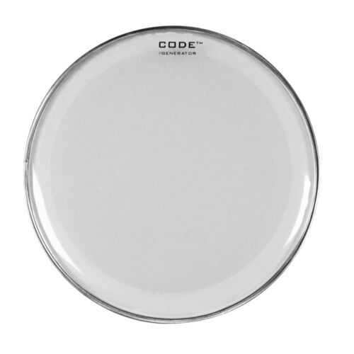 Code Generator Twin Ply Clear Drum Tom Head Rock//Fusion//LA Fusion Pack//Set