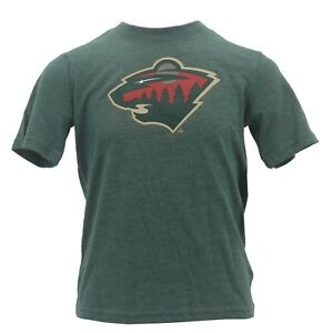 Minnesota Wild Kids Youth Boys Size official NHL T-Shirt New With ... b1c03b187