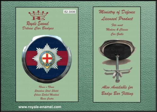 Royale Classic Car Grill Badge + Fittings - THE COLDSTREAM GUARDS - B2.3008
