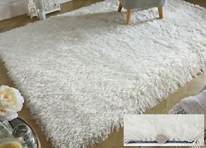 DAZZLE-SPARKLE-SPARKLY-IVORY-WHITE-SILKY-THICK-LONG-PILE-GLITTER-SHAGGY-RUG