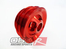 OBX Aluminum Crank Pulley For 94 95 96 97 98 99 00 01 Integra 1.8L B18B B18C Red