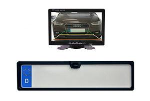 Nummernschildkamera-amp-7-034-Monitor-passend-fuer-Ford-Fahrzeugen-uvm