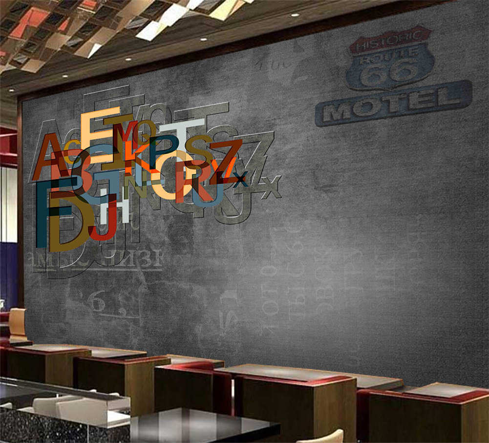 Combination Of Letters 3D Full Wall Mural Photo Wallpaper Print Home Kids Decor