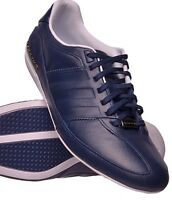 Adidas Porsche Typ 64 Mens Leather Trainers Coligiate Navy F33008 Uk 6-11.5 Box
