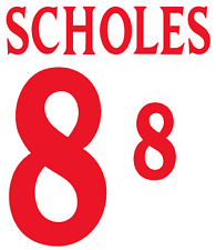 England Scholes 2000 Nameset Shirt Soccer Number Letter Heat Print Football H