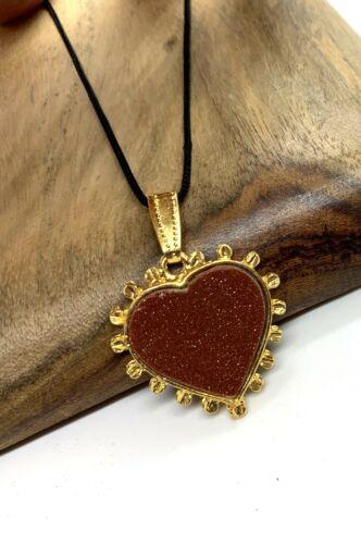 Goldstone Bullet Casing Necklace #2