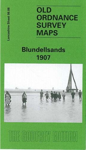 OLD ORDNANCE SURVEY MAP BLUNDELLSANDS 1907 HOLDEN STREET ESHE ROAD OXFORD DRIVE
