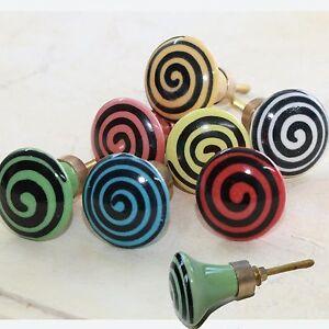 Manija-de-Muebles-Pomos-para-Ceramica-Perilla-INDIA-COLORES-ESPIRAL
