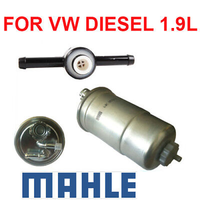 OE 1.9 Diesel Fuel Filter & Check Valve for VW Beetle Golf Jetta Passat |  eBayeBay