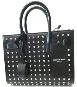 526970e9364 YSL Saint Laurent CLASSIC SAC DE JOUR BAG Studded Nano crossbody | eBay