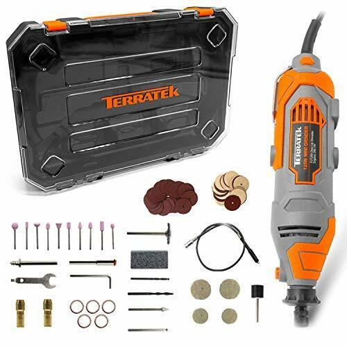 variable Terratek Rotary Tool Kit 135 W avec accessoires 80pc Set /& Boîtier de rangement