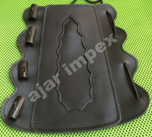 Archery Adjustable Arm Guard Real Leather Arm Protection Real Horne Buttons