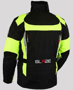Homme-moto-impermeable-ce-armure-cordura-textile-veste-tout-temps-Talla-S-6XL