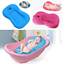Baby-Bath-Tub-Pillow-Pad-Newborn-Shower-Net-Infant-Bathtub-Lounger-Air-Cushion thumbnail 2