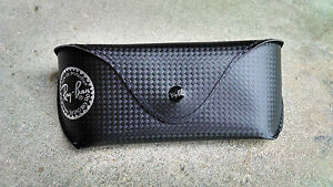 New-Ray-Ban-Black-Carbon-Fiber-Tech-Sunglasses-Leather-Case-Special-Edition
