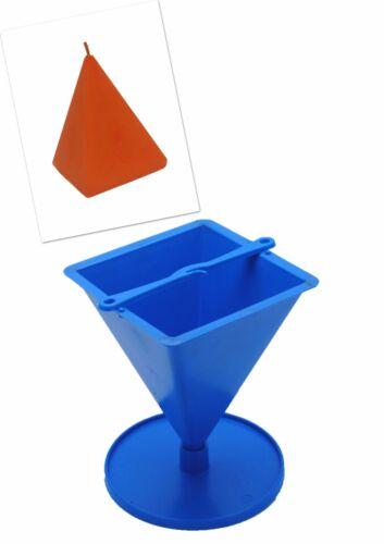 """S7545 Proops pyramide en forme de bougie moule avec support 4/"""" de hauteur uk made"""